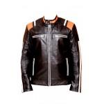 Rocko Biker Leather Jacket In Black