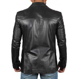 Men Glendale Black Leather Jacket