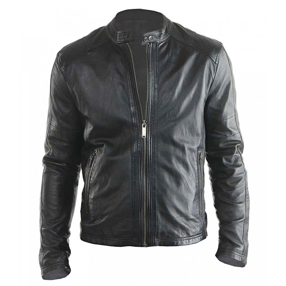 Hollywood Stylish Design- New Biker Real Leather Jacket