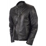 Rayo Vintage Biker Jacket -Genuine Leather Jacket For Men In Black Color