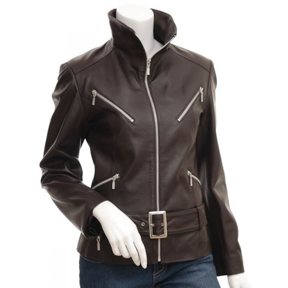 Cole Haan- Real Leather Moto Jacket