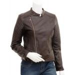 Veronica- Women's Genuine Leather Jacket Biker Jacket